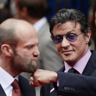 Jason Statham and Sylvester Stallone - Obrázkek zdarma pro 208x208
