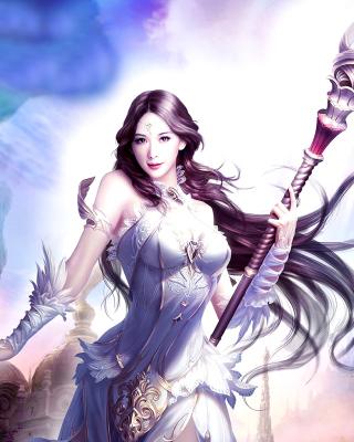 Angelina, League of Angels - Obrázkek zdarma pro Nokia Asha 501