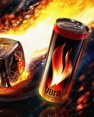 Burn energy drink - Obrázkek zdarma pro Nokia X6
