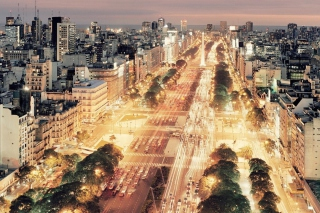Free Buenos Aires At Night Picture for Android, iPhone and iPad
