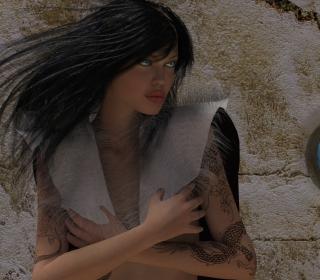 Girl 3D - Obrázkek zdarma pro iPad mini