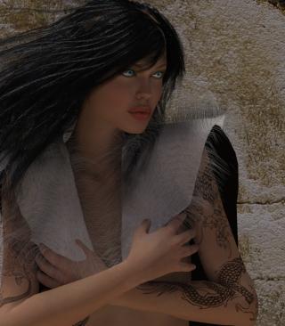Girl 3D - Obrázkek zdarma pro Nokia X2-02