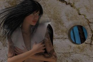 Girl 3D - Obrázkek zdarma pro Samsung Galaxy Q