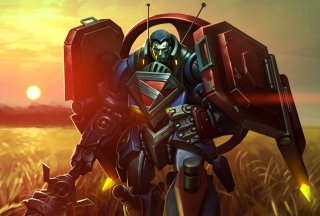 Mecha Superman Infinite Crisis Wallpaper for Android, iPhone and iPad