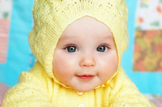 Baby In Yellow Hood Background for Android, iPhone and iPad