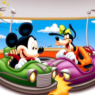 Mickey Mouse in Amusement Park - Obrázkek zdarma pro 128x128
