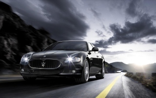 Maserati Quattroporte Sport GT S Background for Android, iPhone and iPad