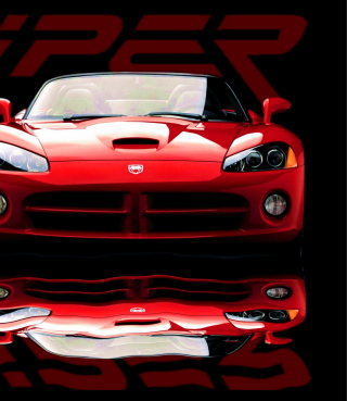 Red Dodge Viper - Obrázkek zdarma pro 640x960