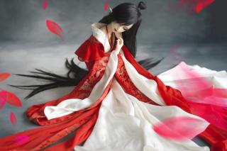 Beautiful Doll In Japanese Kimono - Obrázkek zdarma pro 1280x800