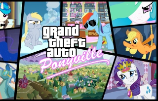 Grand Theft Auto Ponyville Picture for Android, iPhone and iPad