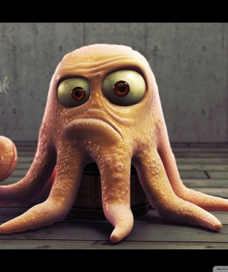 Angry Octopus - Obrázkek zdarma pro Nokia X1-01