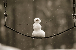 Free Happy Snowman Picture for Android, iPhone and iPad