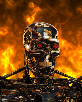 Cyborg Terminator - Obrázkek zdarma pro 132x176