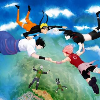 Hatake Kakashi, Sai, Uchiha Sasuke, Haruno Sakura - Obrázkek zdarma pro iPad 2