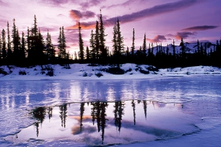Winter Evening Landscape Picture for Android, iPhone and iPad