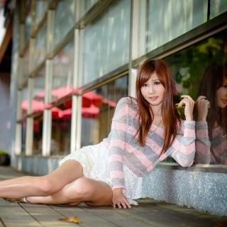 Chinese redhead girl - Obrázkek zdarma pro iPad mini 2