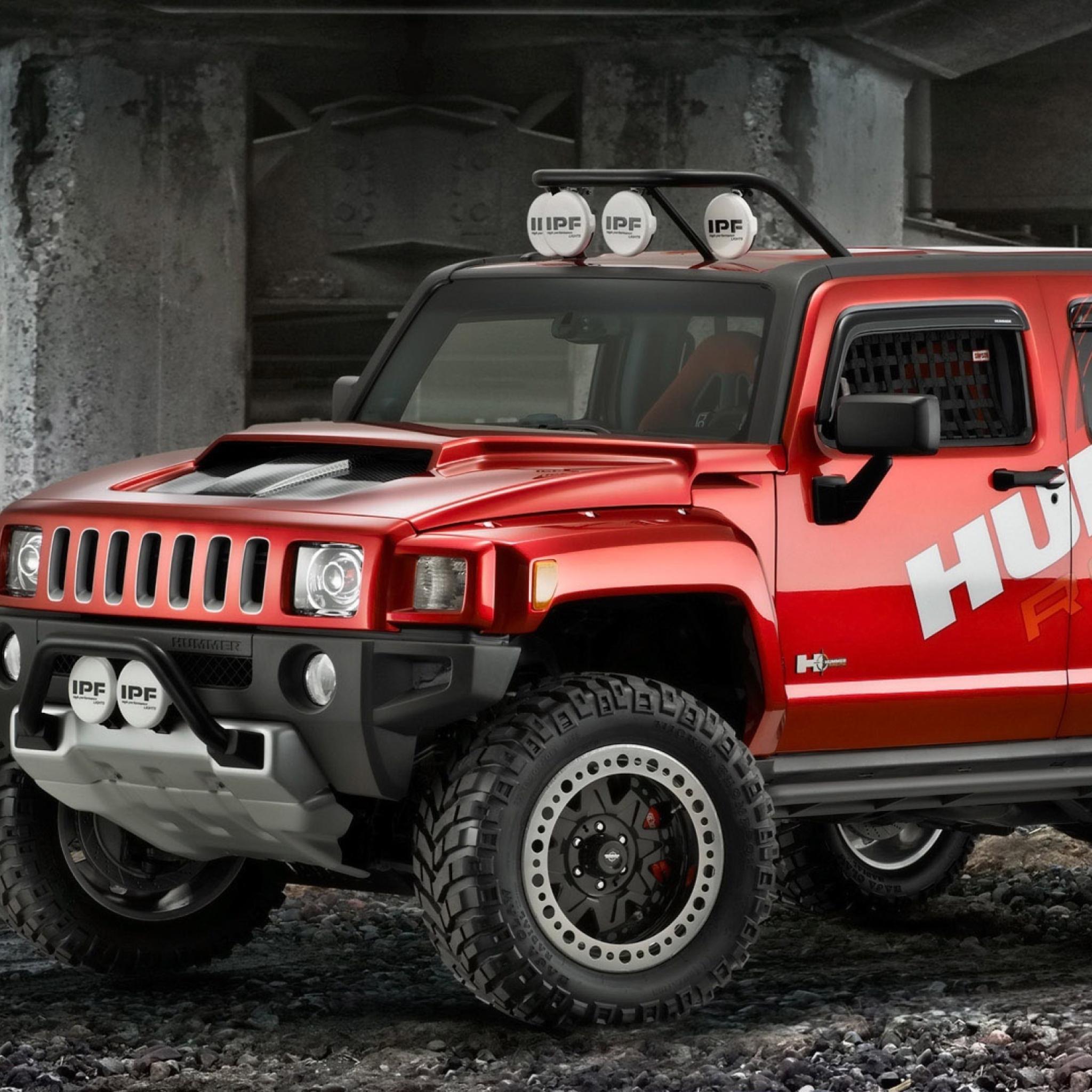 красный автомобиль джип HUMMER H1  № 344767 бесплатно