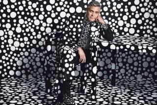 George Clooney Creative Photo - Obrázkek zdarma pro Fullscreen 1152x864