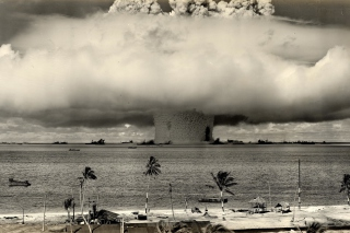 Free Nuclear Bomb Near The Beach Picture for Android, iPhone and iPad
