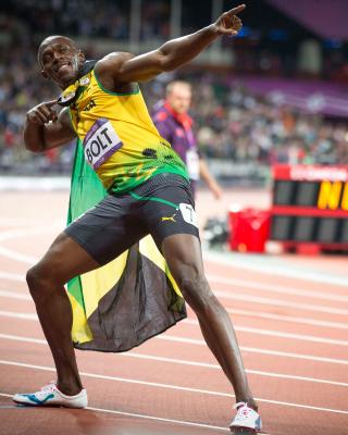 Usain Bolt won medals in the Olympics - Obrázkek zdarma pro Nokia 206 Asha