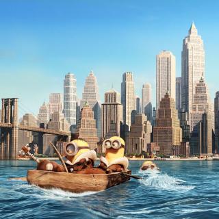 Minions in New York - Obrázkek zdarma pro iPad