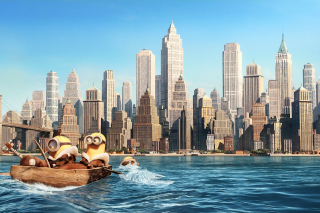 Minions in New York Background for Android, iPhone and iPad