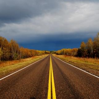Autumn Road - Obrázkek zdarma pro iPad mini 2