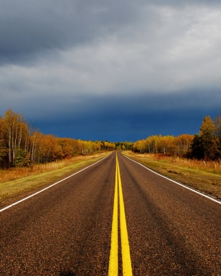 Autumn Road - Obrázkek zdarma pro 360x400