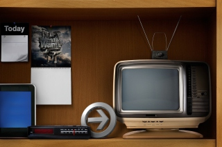 Vintage Televisions Background for Android, iPhone and iPad