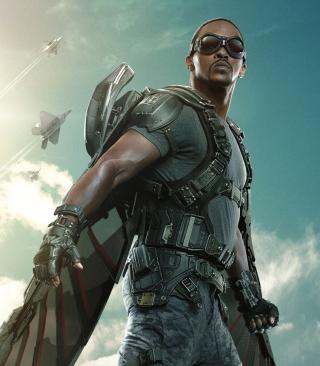 The Falcon Captain America The Winter Soldier - Obrázkek zdarma pro 352x416