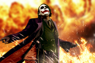 Heath Ledger As Joker - The Dark Knight Movie Picture for Android, iPhone and iPad