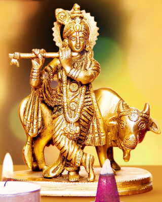Lord Krishna with Cow - Obrázkek zdarma pro Nokia 206 Asha