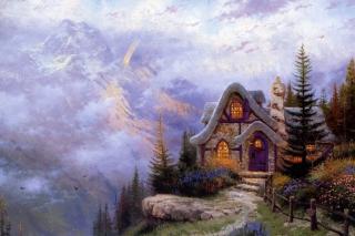 Thomas Kinkade, Sweetheart Cottage papel de parede para celular