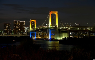 Tokyo Rainbow Bridge Background for Android, iPhone and iPad
