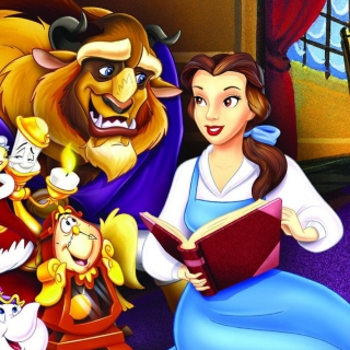 Beauty and the Beast with Friends - Obrázkek zdarma pro iPad 3