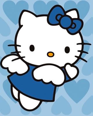 Hello Kitty Blue - Obrázkek zdarma pro Nokia Lumia 520