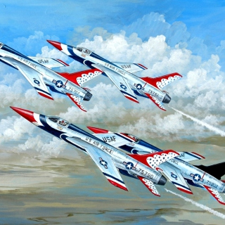 Republic F 105 Thunderchief Fighter Bomber - Obrázkek zdarma pro 208x208