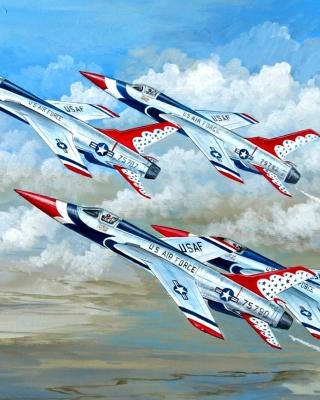 Republic F 105 Thunderchief Fighter Bomber - Obrázkek zdarma pro Nokia Asha 503