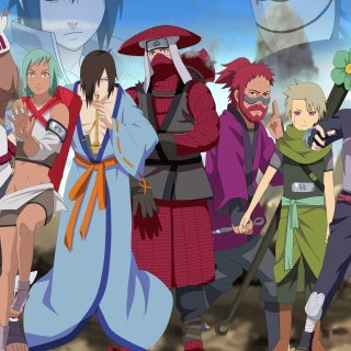 Naruto Shippuden, Jinchurikis, Uchiha, Tobi, Obito - Obrázkek zdarma pro iPad 2