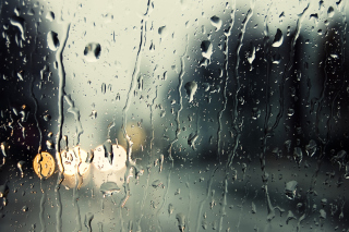 Rain Drops On Window Wallpaper for Android, iPhone and iPad