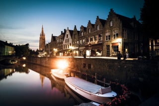 Belgium, West Flanders, Bruges Background for Android, iPhone and iPad