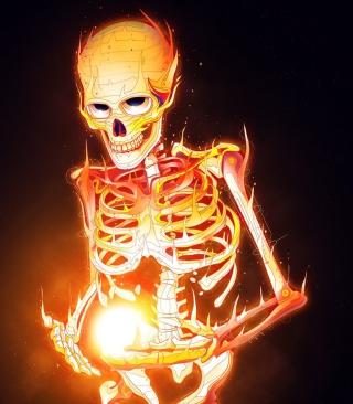 Skeleton On Fire - Obrázkek zdarma pro 128x160
