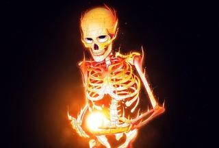 Skeleton On Fire - Obrázkek zdarma pro Android 480x800