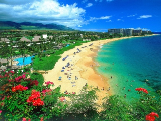 Kaanapali Beach Maui Hawaii Background for Android, iPhone and iPad