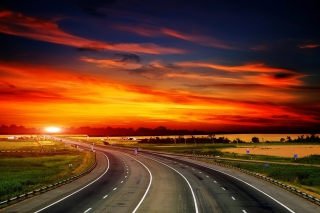 Sunset Highway Background for Android, iPhone and iPad