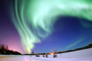 Aurora Borealis Background for Android, iPhone and iPad