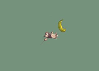 Monkey Wants Banana - Obrázkek zdarma pro Samsung Galaxy Q