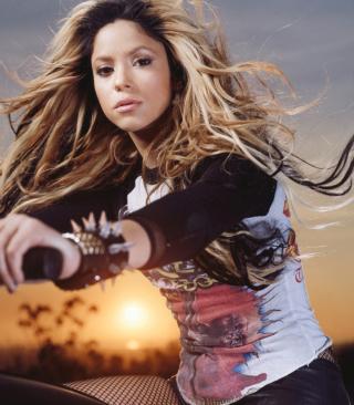 Shakira Rocks - Obrázkek zdarma pro 128x160
