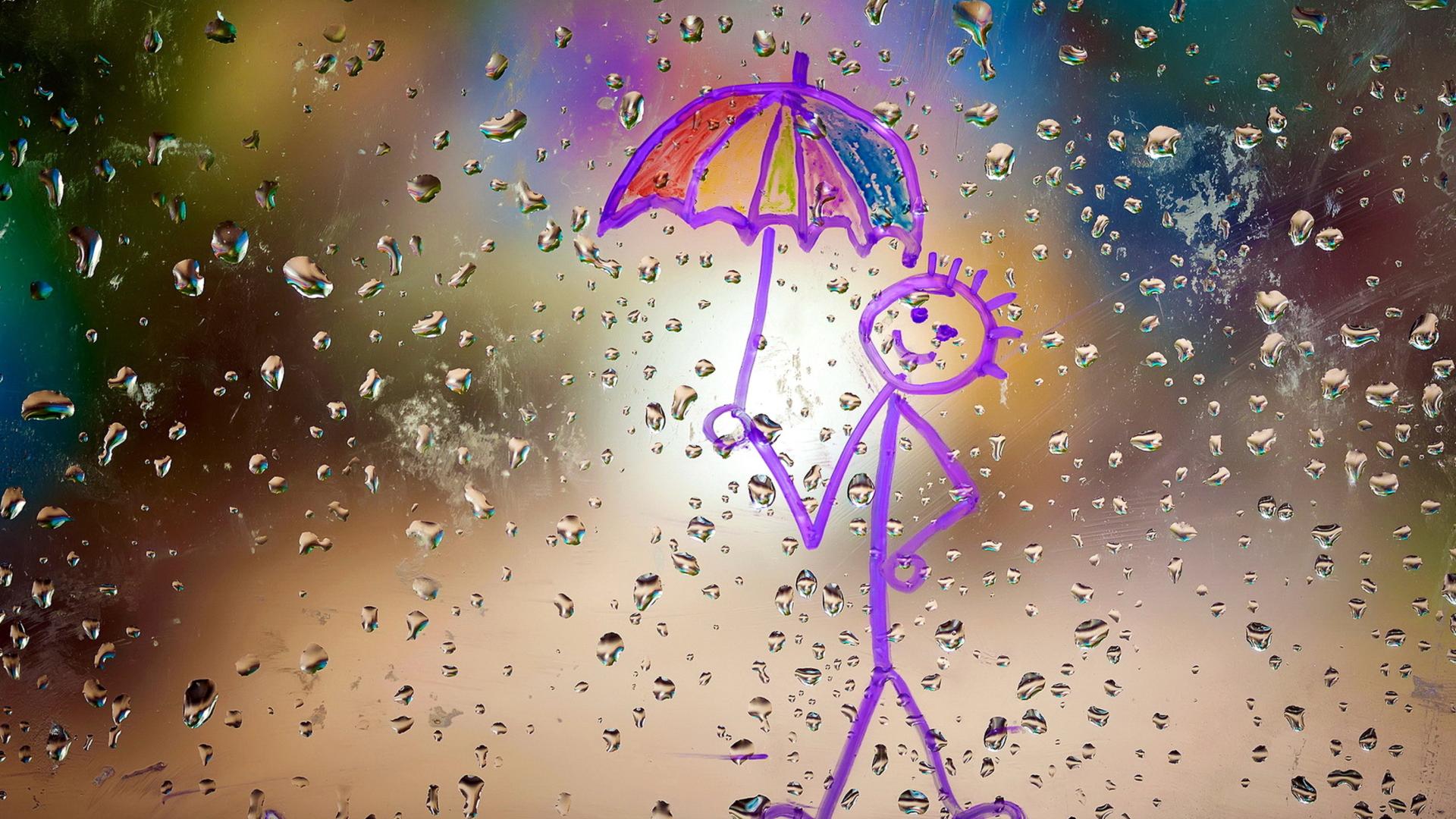 happy rain wallpaper for 1920x1080