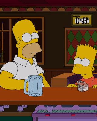 The Simpsons in Bar - Obrázkek zdarma pro 176x220